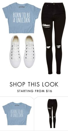 """Untitled #467"" by cuteskyiscute on Polyvore featuring Topshop and Converse #schooloutfits"