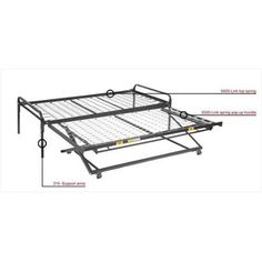 Mantua 5300 Pop Up Trundle Bed - Walmart.com