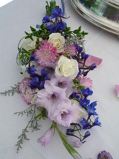 Wedding, Flowers, Bouquet, Purple - gladiolus, roses, bella dona,