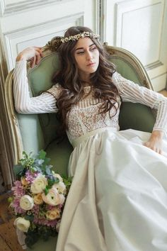 I'm so exciting to introduce you to some gorgeous new wedding dresses for 2017! Katya Shehurina has released this gorgeous editorial to celebrate her  Flowers of the Valley collection... and we are in love.  Inspired by the ethereal landscape view of the relaxed picturesque settings of the country side, Katya Shehurina releases her highly anticipated Bridal Collection for 2016/2017.