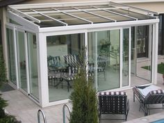 Tettoia in alluminio per giardini d'inverno ALIVER 2000 + 5000 + - FRUBAU