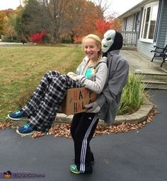 Jeff: I made this costume for my teenage daughter for her last night of trick-or-treats (she feels she is too old this year). You need a good quality sturdy box, A...
