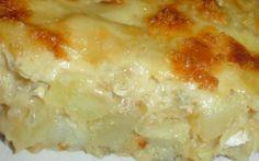 cod fish potatoes casserole (portuguese bacalhau com natas ) Cod Fish, Potato Casserole, 20 Min, Portuguese, Lasagna, Macaroni And Cheese, Potatoes, Cooking, Ethnic Recipes
