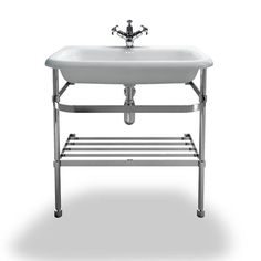Burlington Natural Stone Large Traditional Basin With Wash Stand