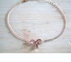 Armband rosé strik