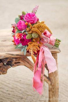 Pretty autumn bridesmaid's bouquet. Flowers by Mindy Rice. Photo Aaron Delesie