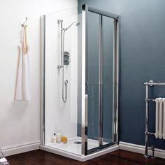 Pacific Bi Fold Shower Door Side Panel Shower Enclosure 700mm X 760mm Now 247 00 Bifold Glass Shower Door Shower Doors Small Bathroom With Shower