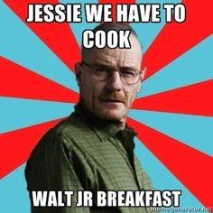 breaking bad; walt jr; breakfast king
