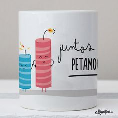 www.mugnificas.es Tazas para regalar. Diseños originales. Frases con diseño. Taza Juntos lo Petamos.