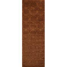 "Momeni Gramercy Hand-Woven Copper Area Rug Rug Size: Runner 2'6"" x 8'"