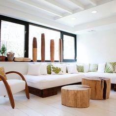 Mesas de centro con #troncos
