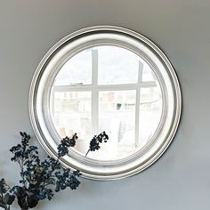 New England Mirror - Silver Large