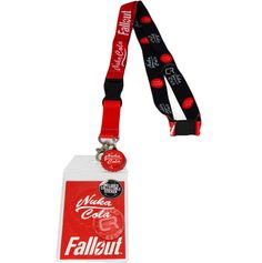Fallout Nuka Cola Lanyard with ID Badge Holder and Cola Bottle Cap