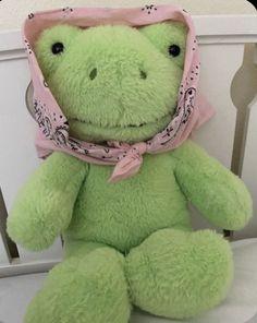 Cute Stuffed Animals, Dinosaur Stuffed Animal, Cute Animals, Green Frog, Cute Frogs, Frog And Toad, Doja Cat, Build A Bear, Indie Kids