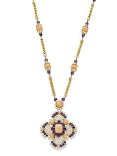 Elizabeth Taylor's  / CORAL, AMETHYST AND DIAMOND 'IBIZA'   /  VAN CLEEF & ARPELS