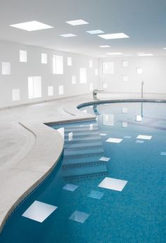 designed an indoor pool and spa for one of the most distinctive hotels on the eastern part of the island of Mallorca, Spain. Pool Spa, My Pool, Hotel Pool, Spa Design, House Design, Design Hotel, Indoor Pools, Ideas De Piscina, Hotels