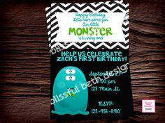 MONSTER FIRST BIRTHDAY First Birthday by BlissfulBethDesigns