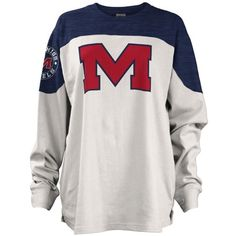 Royce  University Of Mississippi Cannondale Big Shirt (€30) ❤ liked on Polyvore featuring tops, college football shirts and shirt top
