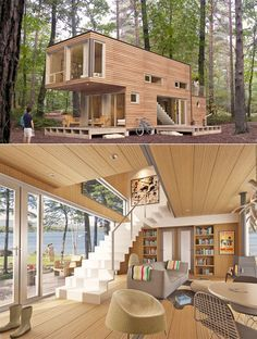 Really cool and cheap Pre-fab homes. Maybe it can be a good vacation home on a lake or something :)