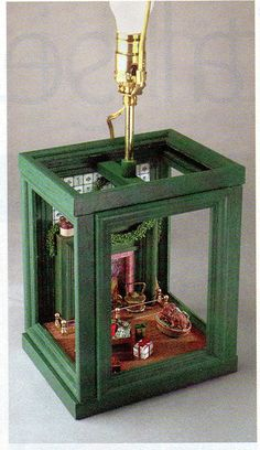 NOTE: I have added instructions for a table lamp using the picture frame room box at the end of this project. A popular & very infor...
