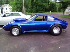 Completed Opel GT pro-street car Retro Cars, Vintage Cars, Motor Car, Motor Vehicle, Drag Cars, Small Cars, Rat Rods, Drag Racing, Hot Cars
