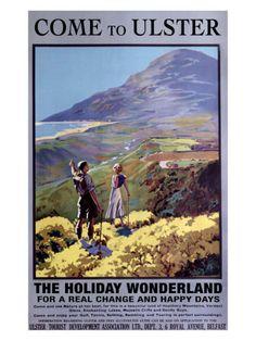 Vintage Travel Poster - Northern Ireland - Railway