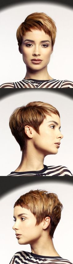 Straight Pixie Hairstyle with Asymmetrical Bangs