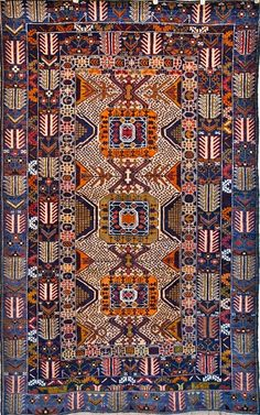 One of a kind Fine Weave Persian Tribal Rug