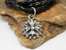 Cool Solid 17 MM Sterling Silver Art Design Cross Flower Pendant,Cross Flower Charm,Cross Flowe Pendant,Art Desing Charm,Unisex Gifts,P110