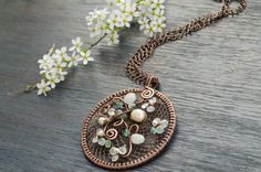 Aquamarine medallion march birthstone necklace, round pendant in pastels with aquamarine, gift for her