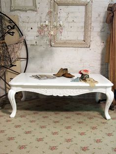 French Provincial Shabby Chic Coffee Table Nice Stools Pinterest And