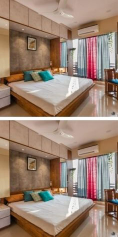 Commissioned as a minimal artist's residence, Western park was conceptualised to emulate the characteristics of Sarkhej Roza – a notable architectural tomb in the vicinity of the 2 BHK apartment. Wardrobe Design Bedroom, Bedroom Bed Design, Bedroom Furniture Design, Home Room Design, Modern Bedroom Design, Home Decor Furniture, House Design, Western Furniture, Door Design