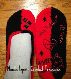 Harley Quinn Inspired slippers great for any chilly day!