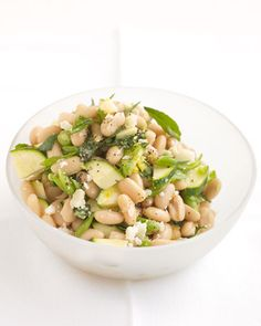 White Bean Salad with Zucchini and Parmesan