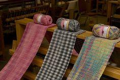 Woven Sock Yarn Scarves