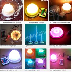 Super Bright Cordless rechargeable restaurant table lights with 16 colors change remote control Lighting System, Strip Lighting, Table Lighting, Table Led, Light Table, Battery Operated Led Lights, Led Furniture, Restaurant Tables