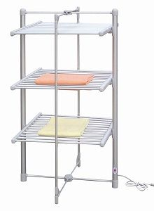 VonHaus Heated Clothes Drying Rack - Costs less than 4 cents per hour to operate. 68 feet of drying space for up to 33 lbs. of wet laundry, Can be fully opened or half opened for smaller loads.