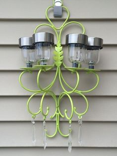 my take on another solar chandelier , go green, how to, lighting, Complete