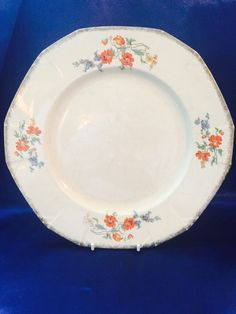 A Lovely Vintage Alfred Meakin Oval Plate/platter Blue On White,leighton Pattern Pottery, Porcelain & Glass Alfred Meakin