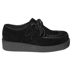 Black Lace Up Creeper Shoe Buy Online