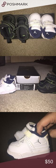 Cute little collectible Baby Jordan's... 2 pair baby Collectable Jordan shoes rare. Jordan Shoes Baby & Walker