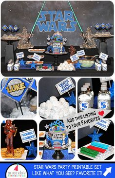 Star Wars Party | Star Wars Birthday | Star Wars Party Decorations | Star Wars Party Favor | Star Wars Printable | Amanda's Parties To Go