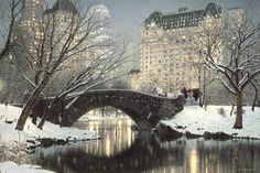 I came across this beautiful photorealistic painting called Twilight in Central Park, by artist Rod Chase, and thought it just perfectly encapsulated that Nocturne, Central Park, Picasso, Cities, A New York Minute, Park Art, Modern Metropolis, Horse Drawn, Twilight