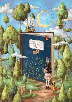 """Find and save images from the """"The Diary Of A Forest Girl"""" collection by Naty (katrinavt) on We Heart It, your everyday app to get lost in what you love. Art And Illustration, Forest Girl, Reading Art, Pics Art, Whimsical Art, Anime Art Girl, Aesthetic Art, Cartoon Art, Cute Drawings"""