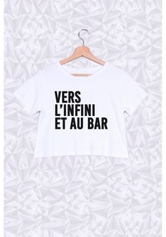 VERS L'INFINI ET AU BAR - #JaimeLaGrenadine #citation #punchline #topcrop #FairWeir #apero #frenchy #french #bar #bistro