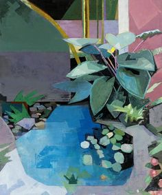 John Evans (b.1945), The Noble Blue Garden (2014), oil on canvas.