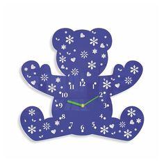 Detske nastenne hodiny v tvare medvedika Backrest Pillow