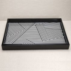 KELLY WEARSTLER | FRACTURED TRAY. Bold graphic striped tray