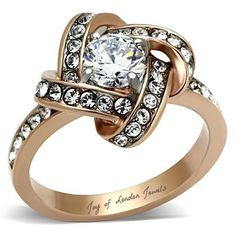 1CT Perfect 14K Rose Gold Russian Lab Diamond Ring