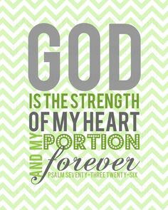 Printable Christian Digital Art -- God is the Strength of My Heart.  $10.00